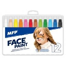 Barvy na obličej MFP 12ks set