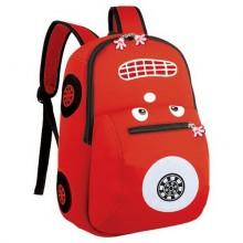 Batoh neoprenový dětský autíčko červené