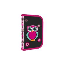 P+P KARTON Penál 1patrový 2 chlopně OXY Pink Owl