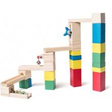 WOODY Kuličková dráha - stavebnice ze dřeva