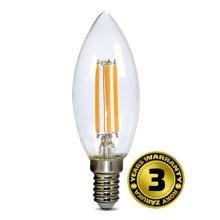 Solight LED žárovka retro svíčka 4W, E14