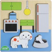 LENA Dřevěné puzzle - kuchyň