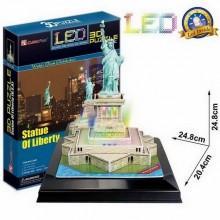Puzzle 3D Socha Svobody led - 37 dílků