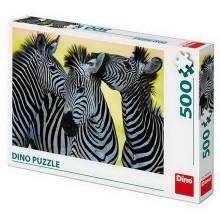 DINO TŘI ZEBRY 500 Puzzle
