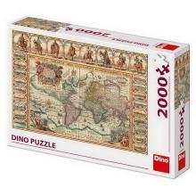 HISTORICKÁ MAPA SVĚTA 2000 Puzzle