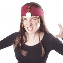 Karnevalová paruka pirátská s vlasy