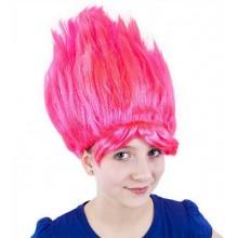 Karnevalová paruka - skřítek - růžová