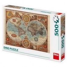 DINO Puzzle 500 dílků Mapa světa z r.1626