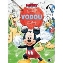 Omalovánky maluj vodou Mickey a závodní