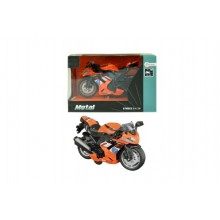 Motorka silniční oranžová kov 12cm