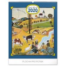 Nástěnný kalendář Josef Lada