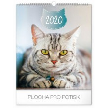 Nástěnný kalendář Kočky 2020