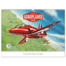 Nástěnný kalendář Aeroplanes Vecl