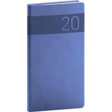 Kapesní diář Aprint 2020 modrý