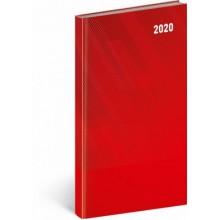 Kapesní diář Cambio Classic 2020 červený
