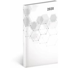 Kapesní diář Cambio Classic 2020 bílý