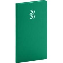 Kapesní diář Capys 2020 zelený