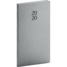 Kapesní diář Capys 2020 stříbrný