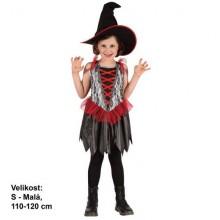 Šaty na karneval - Čarodějnice 110-120