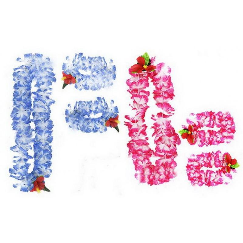RAPPA Sada Hawaii 4ks modrá nebo růžová