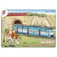 Omalovánky Vlaky