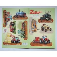 Vystřihovánky Traktory