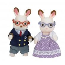 """WOODY Babička a dědeček """"chocolate"""" králíci"""