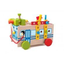 WOODY Montážní autobus s nářadím - dřevo