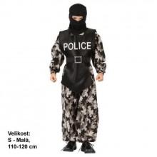 Šaty na karneval - Policista 110 - 120cm