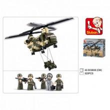 MADE SLUBAN Kostky - vrtulník vojenský 620 ks
