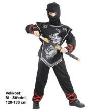 Šaty na karneval Stříbrný ninja 120-130