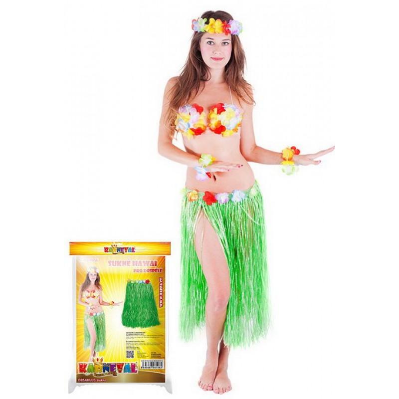 RAPPA Sukně Hawaii dospělá 72cm - 2 barvy