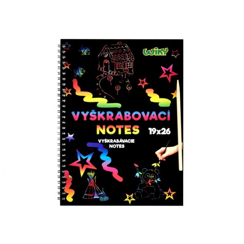 WIKY Škrábací obrázek v bloku/26x19cm/6listů