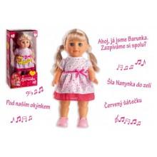 Panenka Barunka chodící a česka zpívajíc