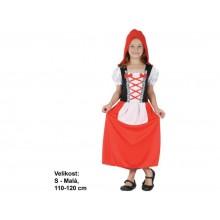 Šaty Červená karkulka 110-120cm
