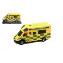 Auto ambulance plast 17cm plast na setrv