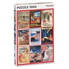 Puzzle Vintage Poster Transport 1000 díl