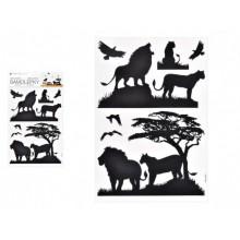 MFP Samolepící dekorace 10474 černá lvi 24 x