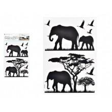 MFP Samolepící dekorace 10475 černá sloni 24