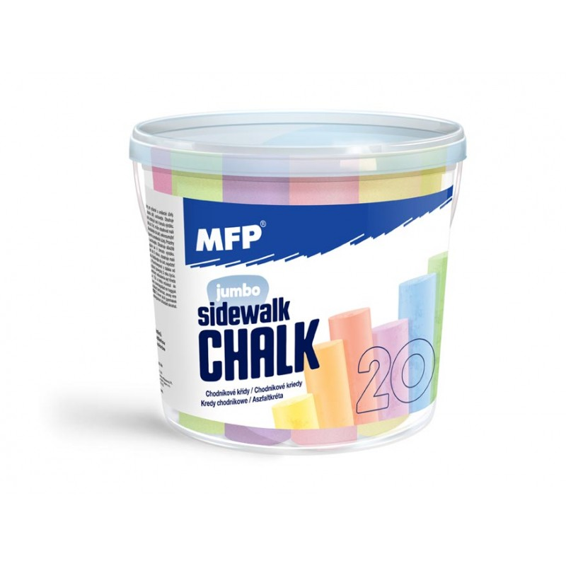 MFP Křídy M chodníkové kulaté 20ks mix barev