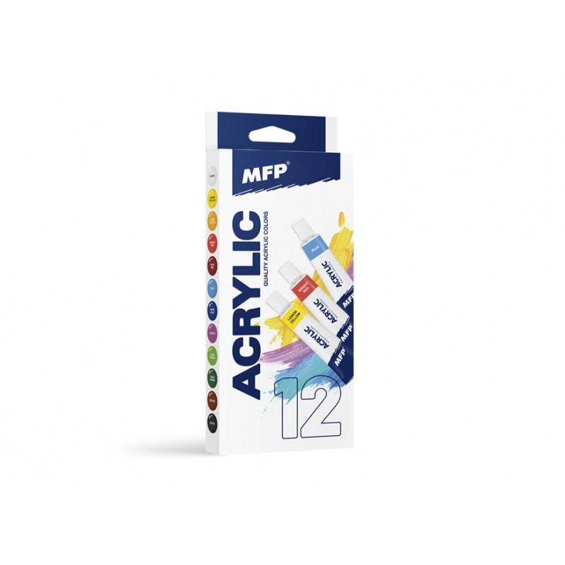MFP Akrylové barvy set základní 12 x 12ml