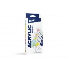 MFP Akrylové barvy set pastel+metal 12 x 12m