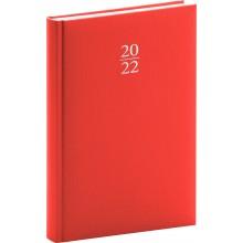 PRESCO GROUP Denní diář Capys 2022, červený, 15 21