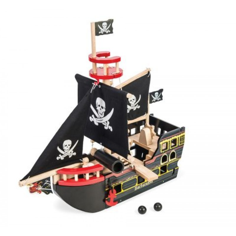 Le Toy Van Pirátská loď Barbarossa sada s Piráty