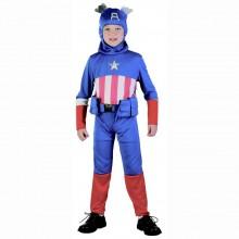Karnevalový kostým hrdina KAPITÁN AMERICA 110 - 120cm (4-6let)