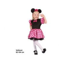 Dětský karnevalový kostým MYŠIČKA MINNIE 92 - 104cm ( 3 - 4 roky )