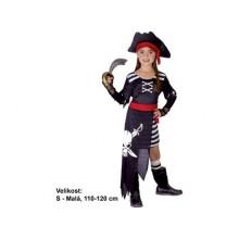 Dětský karnevalový kostým PIRÁTKA ELIZABETH 110 - 120cm ( 4 - 6 let )
